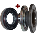 Oil seal + Flange: New type with dirt/mud seal - Rear