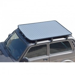 Roof: Cargo platform with thin aluminium plate