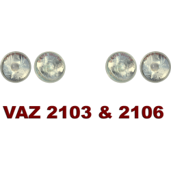 Headlight: Lamp/reflector, complete set (4 pieces) for VAZ 2103 & 2106
