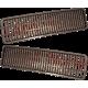 Bonnet grid for LADA Classic VAZ 2103+2106 - Black - 2103-8402076 + 2103-8402077