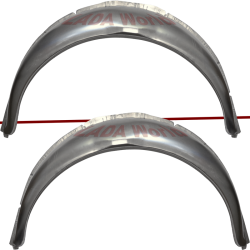 Body repair piece: Rear wheel arc: Trunk 2121-5401174 RH, 2121-5401175 LH