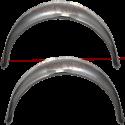 Body repair piece: Rear wheel arc: Trunk