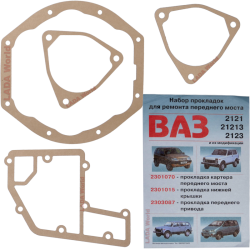 All 4 Gaskets for the Front Differential