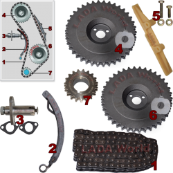 LADA 2101 (1200-1300 cm³) Sprocket Kit