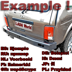 LADA Niva Rear Bumper Example