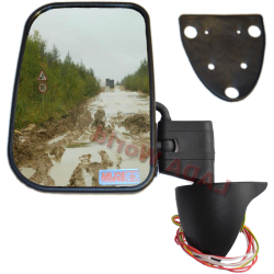 LADA Niva XL side mirror with anti reflex & heated glass: Left side
