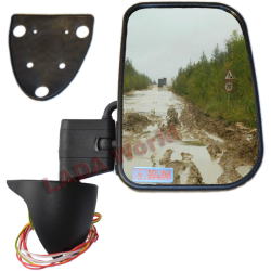 LADA Niva XL side mirror with anti reflex & heated glass: Right side