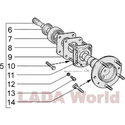 LADA Drive Shaft Rear