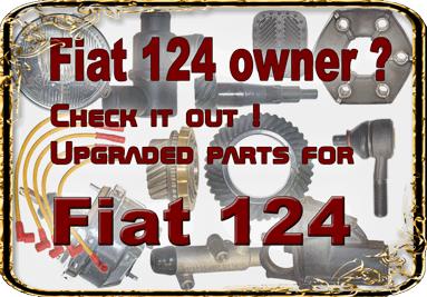 Fiat 124 dílů! Můžete najít mnoho vylepšených Lada částí, které se vejde do vaší Fiat