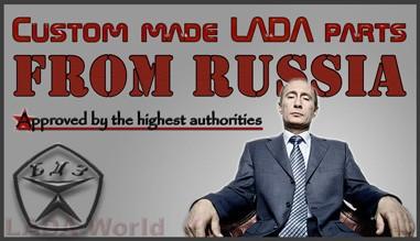Skräddarsydda LADA delar, som importeras från Ryssland